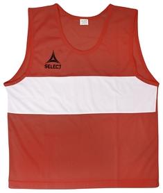 Накидка (манишка) тренировочная Select Bibs Standard, красная (683300-012)