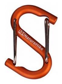 Карабин многофункциональный Naturehike S-type NH15A003-H - оранжевый, 60 мм (6927595717202)