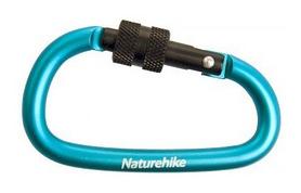 Распродажа*! Карабин многофункциональный с муфтой Naturehike D-type NH15A008-D - синий, 80 мм (6927595701638)