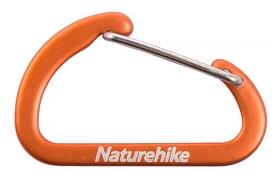 Карабин многофункциональный Naturehike D-type mini NH15A004-H - оранжевый, 2 шт по 40 мм (6927595717301)