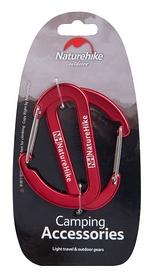 Карабин многофункциональный Naturehike 2 Pack NH15A002-H - красный, 65 мм (6927595717110)