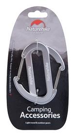 Карабин многофункциональный Naturehike 2 Pack NH15A002-H - серебристый, 65 мм (6927595717134)