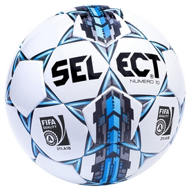 Мяч футбольный Select Numero 10 Fifa Approved, белый (5703543089659)