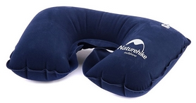 Подушка надувная Inflatable Travel Neck Pillow Naturehike NH15A003-L, синяя (6927595718414)