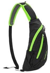 Рюкзак-сумка Naturehike Chest Bag NH23X008-K - черно-зеленая, 6 л (6927595745212)