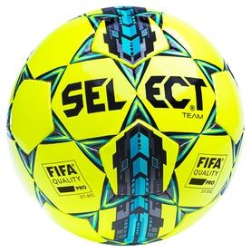 Мяч футбольный Select Team FIFA Approved New №5, желтый (5703543096411)
