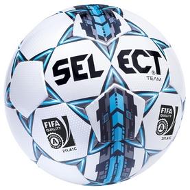 Мяч футбольный Select Team FIFA Approved New №5, белый (5703543089666)