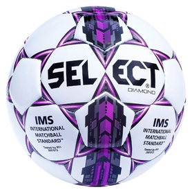 Мяч футбольный Select Diamond New №4, белый (5703543089413)