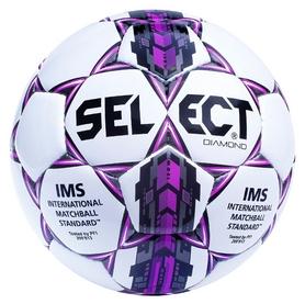 Мяч футбольный Select Diamond New №5, белый (5703543089536)