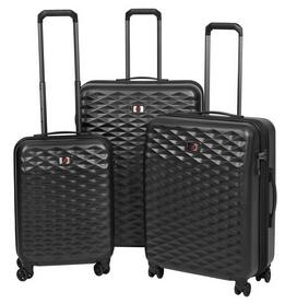 """Набор пластиковых чемоданов Wenger Lumen (20""""+24""""+28""""), черный (604333)"""