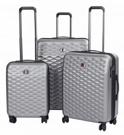 """Набор пластиковых чемоданов Wenger Lumen (20""""+24""""+28""""), серый (604335)"""