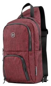 Рюкзак городской для ноутбука Wenger Console Cross Body Bag - бордово-серый, 8 л (605030)