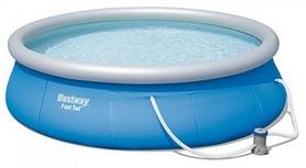 Бассейн надувной с фильтрующим насосом BestWay 57321, 396х84 см