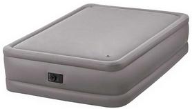 Кровать надувная двуспальная со встроенным насосом Intex V64470 - серый, 152х203х51 см (64470)