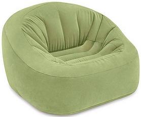 Кресло надувное Intex - оливковое, 124х119х76 см (68576)