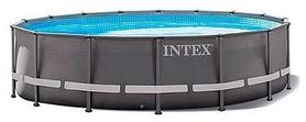 Бассейн каркасный с фильтрующим насосом и аксессуарами Intex 26322, 488х488х122 см