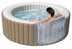 Бассейн-джакузи надувной с нагревателем и аксессуарами Intex 28404, 71х191 см