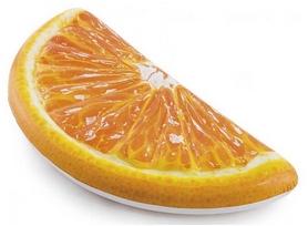 """Матрас для плавания надувной одноместный Intex """"Долька апельсина"""", 178х85 см (58763)"""
