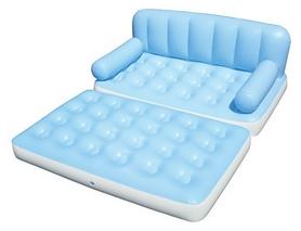 Диван-кровать надувной двухместный 5 в 1 Bestway, голубой (75038)