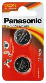Батарейки Panasonic CR-2016 Lithium, 2 шт (CR-2016EL/2B)