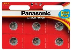 Батарейки Panasonic CR-2016 Lithium, 6 шт (CR-2016EL/6B)