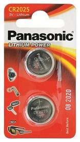 Батарейки Panasonic CR-2025 Lithium, 2 шт (CR-2025EL/2B)