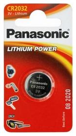 Батарейка Panasonic CR-2032 Lithium, 1 шт (CR-2032EL/1B)