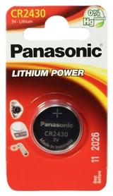 Батарейка Panasonic CR-2430 Lithium, 1 шт (CR-2430EL/1B)