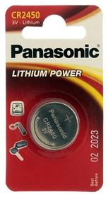 Батарейка Panasonic CR-2450 Lithium, 1 шт (CR-2450EL/1B)