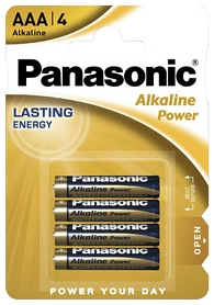 Батарейки Panasonic Alkaline Power AAA, 4 шт (LR03REB/4BPR)