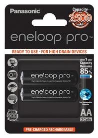 Аккумуляторы Panasonic Eneloop Pro AA 2500 мАч Ni-MH, 2 шт (BK-3HCDE/2BE)