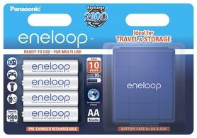 Аккумуляторы Panasonic Eneloop AA 1900 мАч Ni-MH с футляром, 4 шт (BK-3MCCEC4BE)