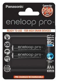 Аккумуляторы Panasonic Eneloop Pro AAA 930 мАч, 2 шт (BK-4HCDE/2BE)