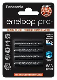 Аккумуляторы Panasonic Eneloop Pro AAA 930 мАч, 4 шт (BK-4HCDE/4BE)