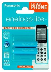 Аккумуляторы Panasonic Eneloop Lite AAA 550 мАч Ni-MH Dect Series, 2 шт (BK-4LCCE/2DE)