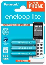 Аккумуляторы Panasonic Eneloop Lite AAA 550 мАч Ni-MH Dect Series, 3 шт (BK-4LCCE/3DE)