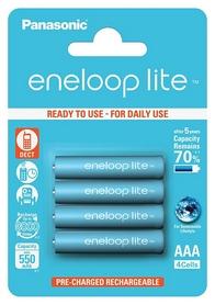 Аккумуляторы Panasonic Eneloop Lite AAA 550 мАч Ni-MH, 4 шт (BK-4LCCE/4BE)