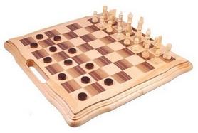 Набор игровой 3 в 1 (шахматы, шашки, нарды) Duke AF1602-07, 40х40 см
