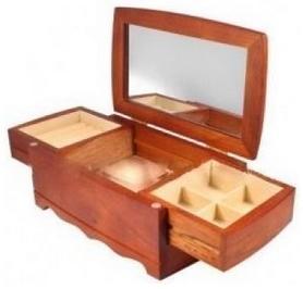 king wood Комодик для украшений двухуровневый King Wood JF-K0604B, 15х10х24 см