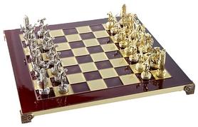 Шахматы Manopoulos «Геркулес и Полубоги Олимпа» - красные, 36х36 см (S7RED)