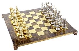 Шахматы Manopoulos «Ренессанс-рыцари» - зеленые, 36х36 см (S9GRE)