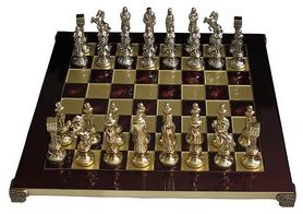 Шахматы Manopoulos «Ренессанс-рыцари» - красные, 36х36 см (S9RED)