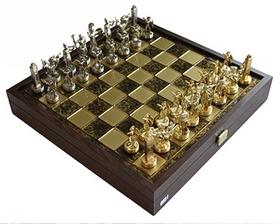 Шахматы Manopoulos «Греческая мифология» - коричневые,  34х34 см (SK4BRO)