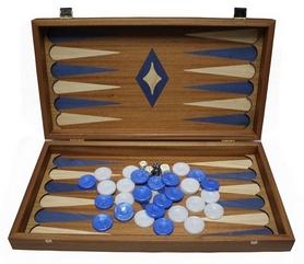 Набор для игры в нарды Manopoulos TMM1BLU - синие, 48х45 см