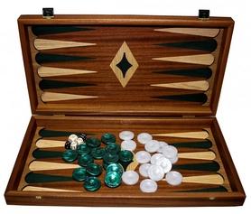 Набор для игры в нарды Manopoulos TMM1GRE - серые, 48х45 см