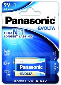 Батарейка Panasonic Evolta 6LR61 BLI Alkaline (6LR61EGE/1BP)
