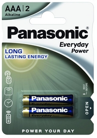 Батарейка Panasonic EveryDay Power AAA BLI Alkaline, 2 шт (LR03REE/2BR)