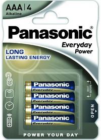 Батарейка Panasonic EveryDay Power AAA BLI Alkaline, 4 шт (LR03REE/4BR)