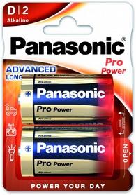 Батарейки Panasonic Pro Power D BLI Alkaline, 2 шт (LR20XEG/2BP)