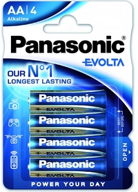 Батарейки Panasonic Evolta AA BLI Alkaline, 4 шт (LR6EGE/4BP)